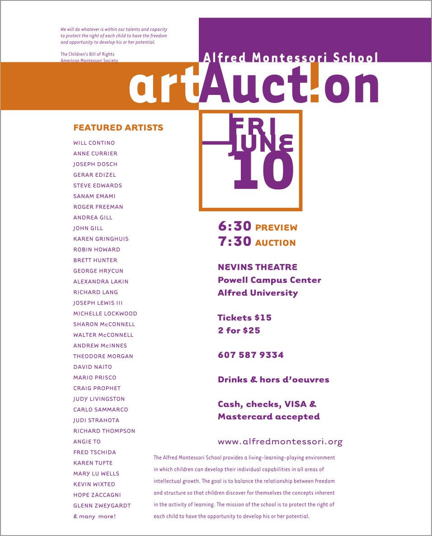 Montessori Art Auction Poster